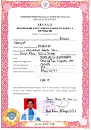 IJAZAH PAKET A LULUSAN TAHUN AJARAN 2019-2020